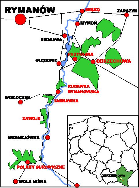 Odrzechowa na mapie